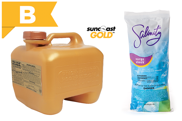 suncoast liquid chlorine and salinity surge shock