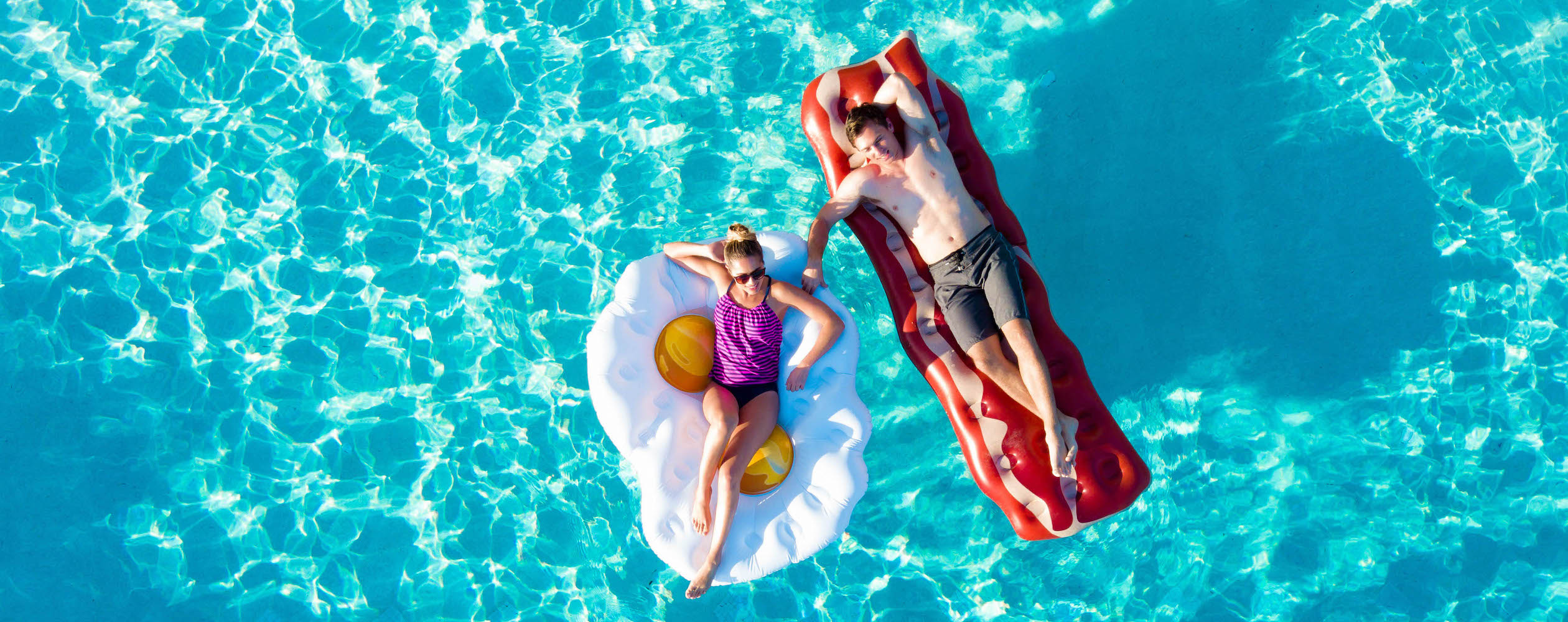 bacon and eggs pool float inflatable
