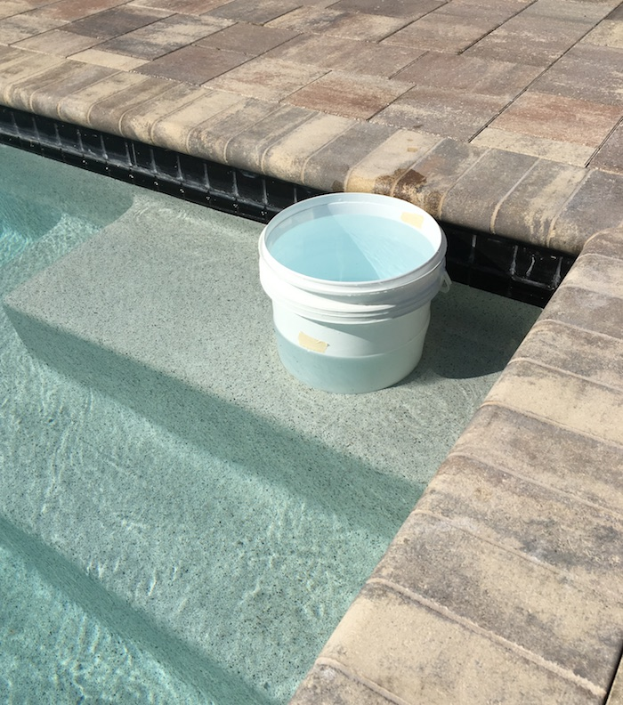 pool leak bucket test