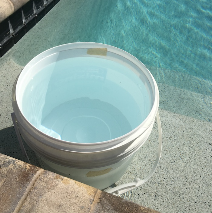 pool leak detection bucket test