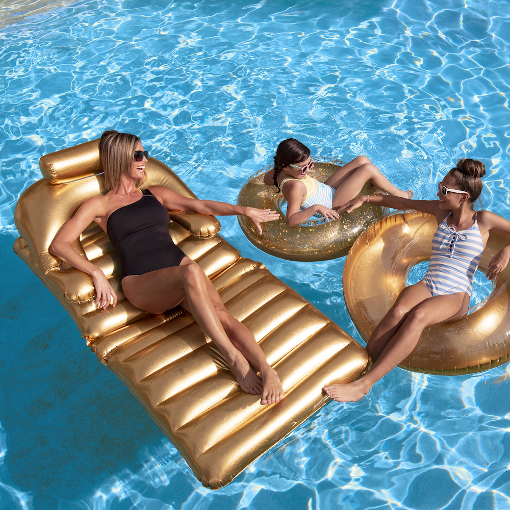 Gold Swimming Pool Inflatable Float