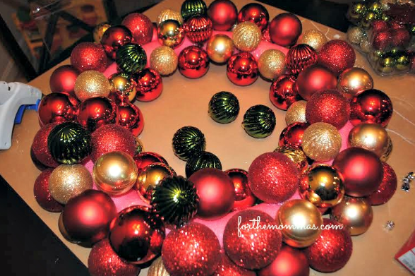 christmas pool noodle wreath