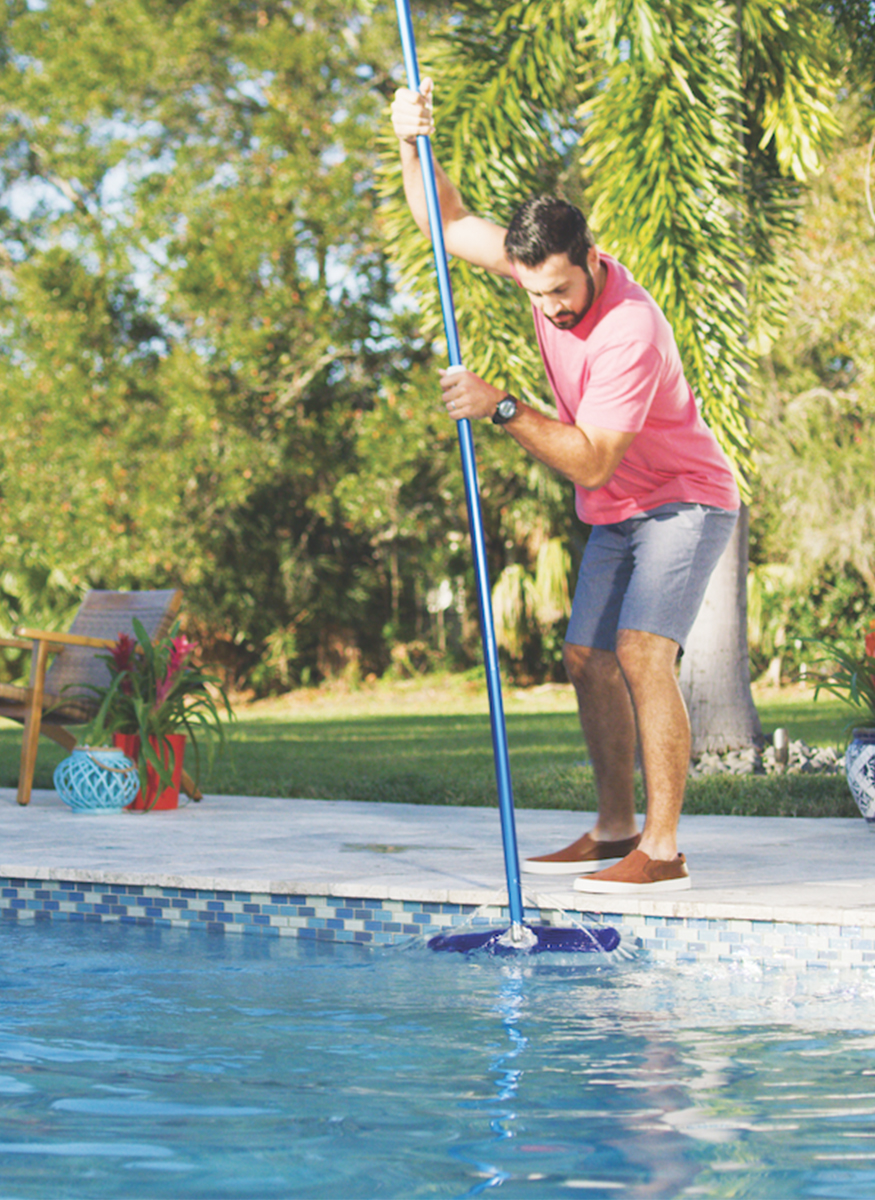 How do I get pollen out of my pool?