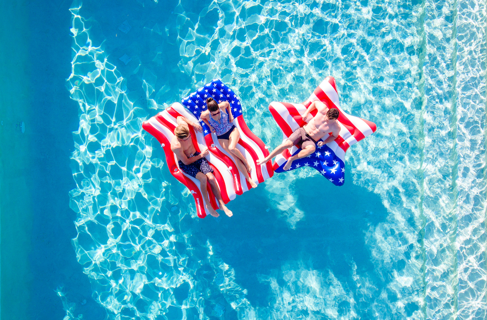 american flag star pool float