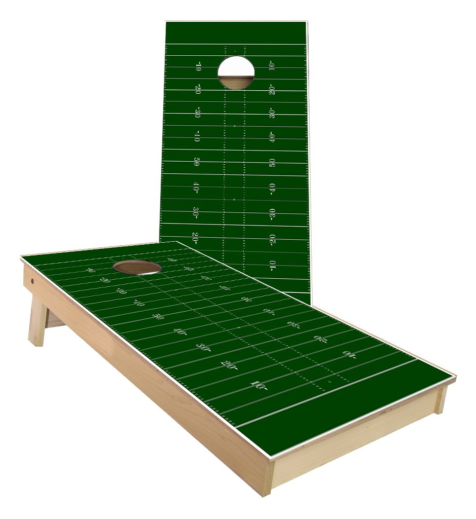 football themed cornhole boards